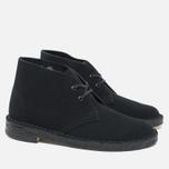 Clarks Originals Desert Boot Suede Women's Shoes Black photo- 1