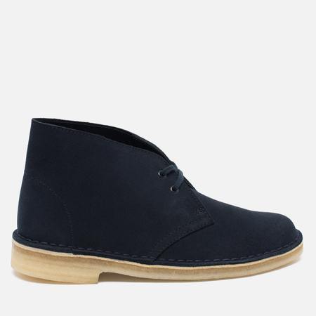 Clarks Originals Desert Boot Suede Women's Shoes Dark Navy