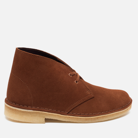 Clarks Originals Desert Boot Suede Women's Shoes Dark Tan