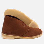 Женские ботинки Clarks Originals Desert Boot Suede Dark Tan фото- 2