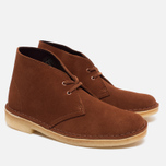 Женские ботинки Clarks Originals Desert Boot Suede Dark Tan фото- 1