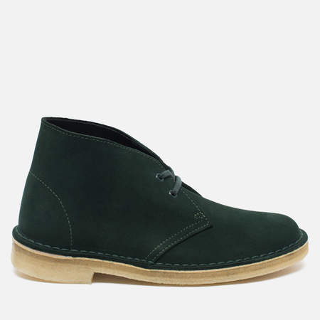 Clarks Originals Desert Boot Suede Women's Shoes Green