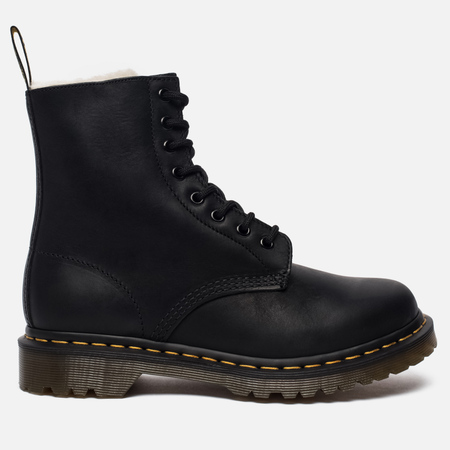 Женские зимние ботинки Dr. Martens Serena Fur Lined Burnished Wyoming Black