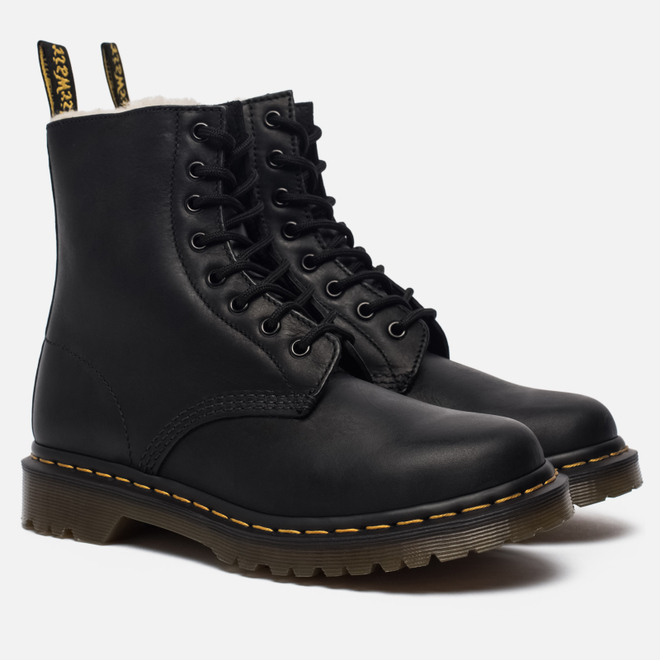 Зимние ботинки Dr. Martens Serena Fur Lined Burnished Wyoming Black