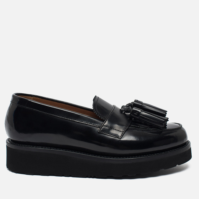 Женские ботинки Grenson Clara Loafer Rub Off Tassell Black
