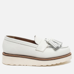 Женские ботинки лоферы Grenson Clara Loafer Sole Wedge White фото- 0