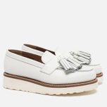 Женские ботинки лоферы Grenson Clara Loafer Sole Wedge White фото- 1