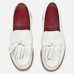 Женские ботинки лоферы Grenson Clara Loafer Sole Wedge White фото- 4