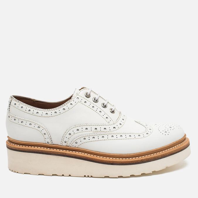 Женские ботинки броги Grenson Emily Brogue Sole Wedge White