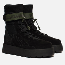 Женские ботинки Puma x Rihanna Fenty Scuba Boot Black/Green Gables