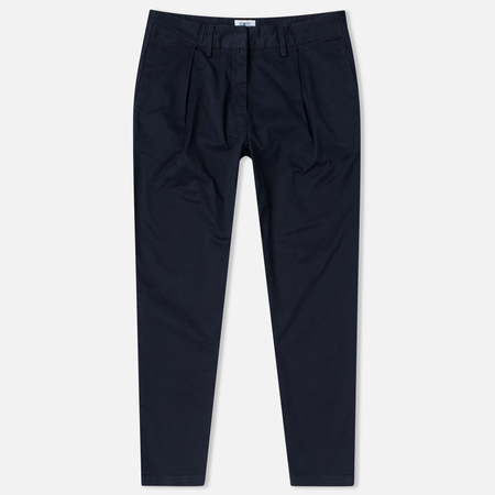 Barbour Pleated Chinos Women's Trousers Navy