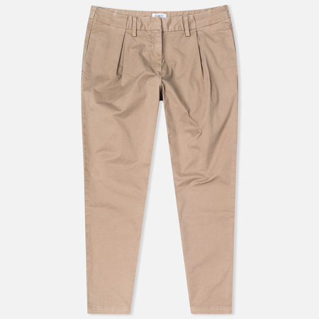 Barbour Pleated Chinos Women's Trousers Stone