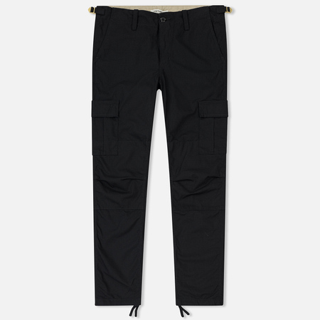 Женские брюки Carhartt WIP W' Aviation 6.5 Oz Black Rinsed