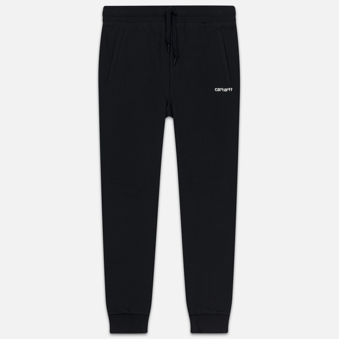Женские брюки Carhartt WIP W' Script Embroidery 9.1 Oz Black/White