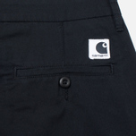 Женские брюки Carhartt WIP W' Vesper Lycra Stretch Twill 6 Oz Black Rinsed фото- 4