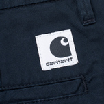 Женские брюки Carhartt WIP W' Vesper Lycra Stretch Twill 6 Oz Duke Blue Rinsed фото- 4