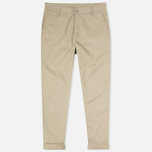 Женские брюки Carhartt WIP W' Vesper Lycra Stretch Twill 6 Oz Safari Rinsed фото- 0