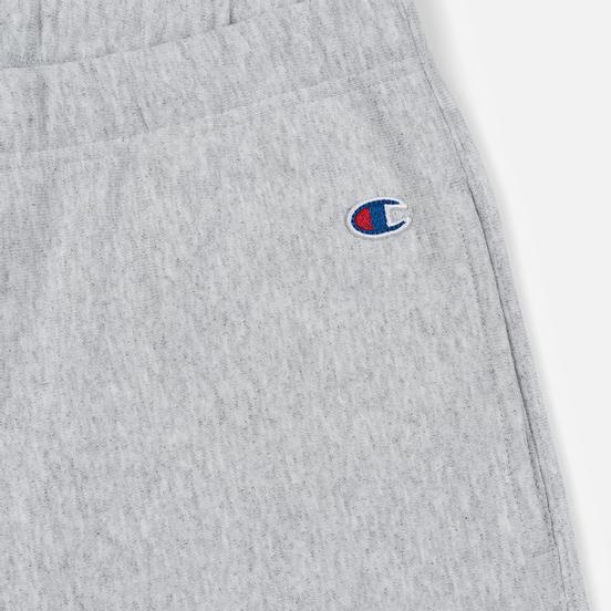 Женские брюки Champion Reverse Weave Big Script Elastic Cuff Light Grey