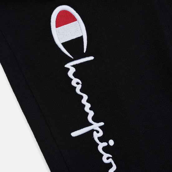 Женские брюки Champion Reverse Weave Big Script Rib Cuff Black