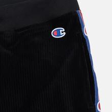 Женские брюки Champion Reverse Weave Logo Tape Rib Cuff Black фото- 2