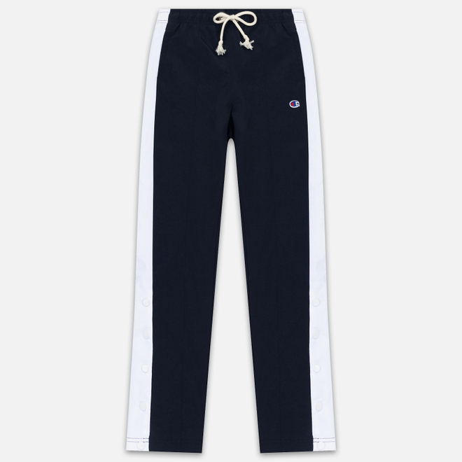 Женские брюки Champion Reverse Weave Peached Feel Crinckle Water Repellent Straight Hem Navy/White