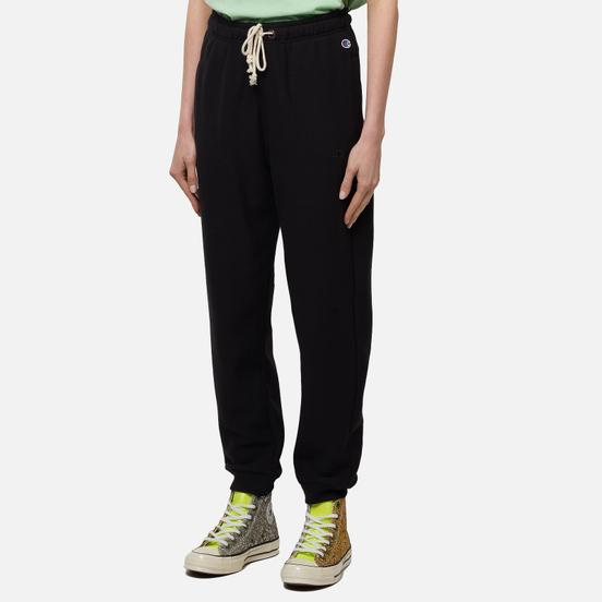 Женские брюки Champion Reverse Weave Rib Cuff Light Brushed Fleece Black