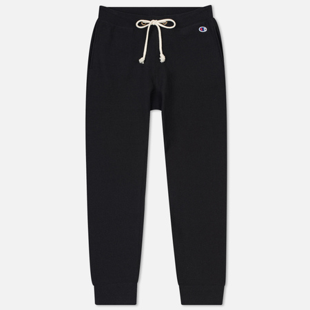 Женские брюки Champion Reverse Weave Rib Cuff Mini Logo Black