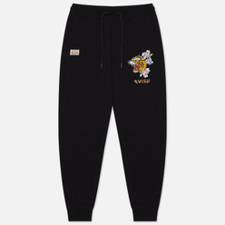 Женские брюки Evisu Heritage Tiger Embroidered Black