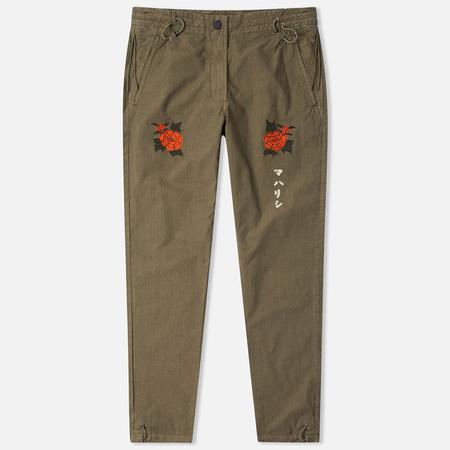 Maharishi Hanafuda Original Women's Trousers Maha Olive
