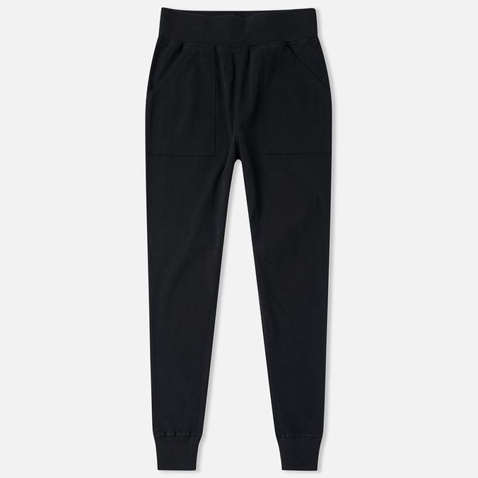 Женские брюки Maharishi Organic Cotton Rib Track Black