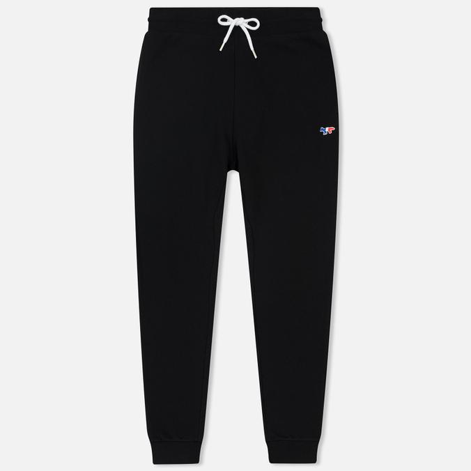 Женские брюки Maison Kitsune Classic Jog Tricolor Fox Patch Black