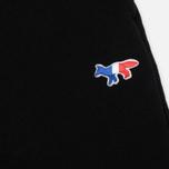 Женские брюки Maison Kitsune Classic Jog Tricolor Fox Patch Black фото- 4