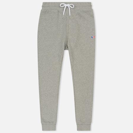 Женские брюки Maison Kitsune Classic Jog Tricolor Fox Patch Grey Melange