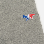 Женские брюки Maison Kitsune Classic Jog Tricolor Fox Patch Grey Melange фото- 4