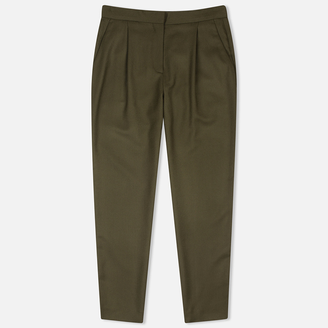 Женские брюки Norse Projects Disa Wool Dark Olive