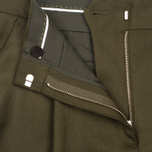 Norse Projects Disa Wool Women's Trousers Dark Olive photo- 3