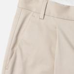 Женские брюки Norse Projects Erika Cropped Cotton Khaki фото- 1