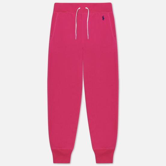 Женские брюки Polo Ralph Lauren Polo Pony Mini Logo Ankle Featherweight Fleece Accent Pink