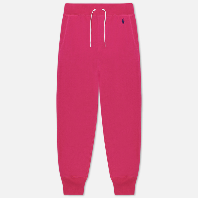 Женские брюки Polo Ralph Lauren Polo Pony Mini Logo Ankle Featherweight Fleece Accent Pink