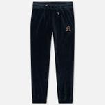 Женские брюки Tommy Jeans Crest Velvet Dark Sapphire фото- 0