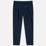 Женские брюки YMC Linen Peg Navy фото- 0