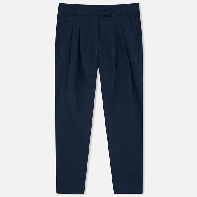 Женские брюки YMC Linen Peg Navy