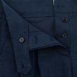 Женские брюки YMC Linen Peg Navy фото- 1