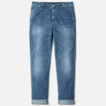 Carhartt WIP W' Casey Ankle 10 Oz Women's Jeans Blue Rib Washed photo- 0