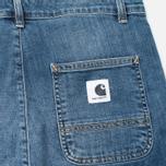 Женские джинсы Carhartt WIP W' Casey Ankle 10 Oz Blue Rib Washed фото- 3