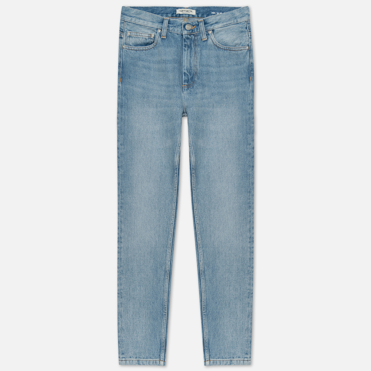 Женские джинсы Carhartt WIP W' Page Carrot Ankle Slim 13 Oz Blue Light Stone Washed