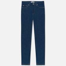 Женские джинсы Carhartt WIP W' Page Carrot Ankle Slim 13 Oz Blue Rinsed фото- 0