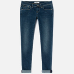 Женские джинсы Edwin EW-90 Super Skinny Compact Blue Powerstretch 11 Oz Mid Kick Used фото- 0