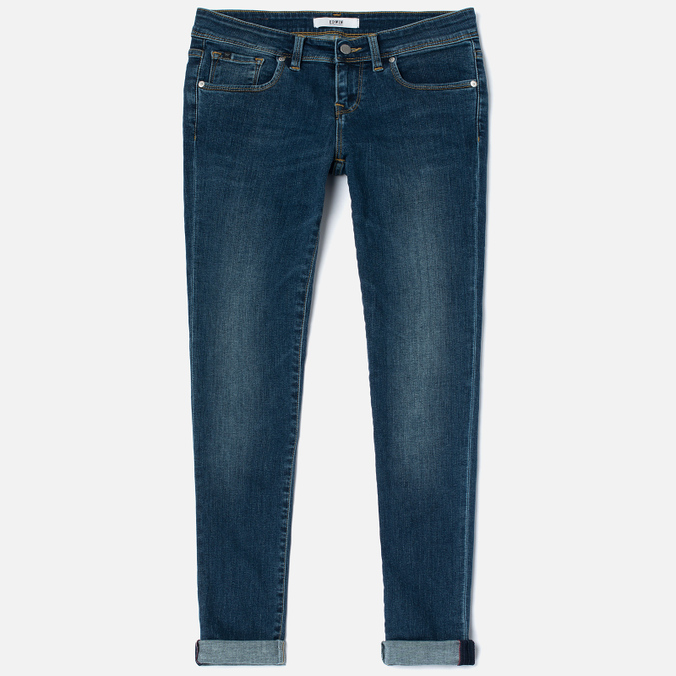 Женские джинсы Edwin EW-90 Super Skinny Compact Blue Powerstretch 11 Oz Mid Kick Used