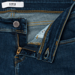 Женские джинсы Edwin EW-90 Super Skinny Compact Blue Powerstretch 11 Oz Mid Kick Used фото- 2